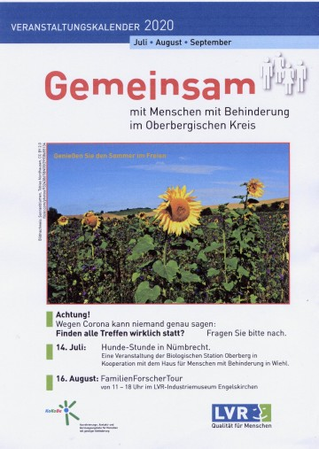 KoKoBe Oberberg  Veranstaltungskalender Q3 2020