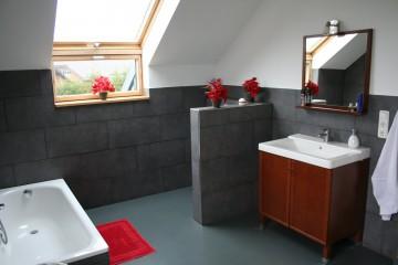 Ferienwohnung Eifel Gitte.de Referenz-Bild Obergeschoss Badezimmer