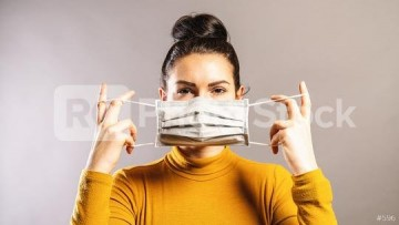 RC-Photo-Stock Referenz-Bild Stock Photo Woman Wearing An Anti Virus Protection Mask To Prevent Othe
