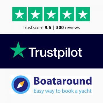 Boataround.com Referenz-Bild Trustpilot 300