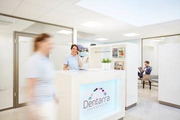 Dentarra Zahnmedizin Referenz-Bild Empfangsbereich Der Zahnarztpraxis Denterra In Heilbronn